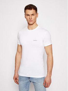 Versace Versace T-shirt Mc Girocollo AUU04023 Bianco Slim Fit