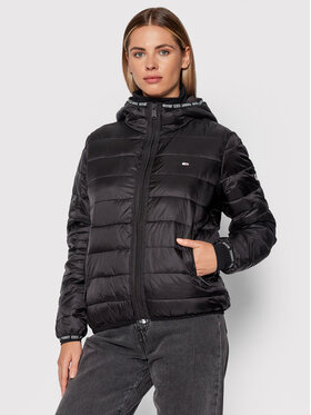 Tommy Jeans Tommy Jeans Geacă din puf Tjw Quilted Tape DW0DW09350 Negru Regular Fit
