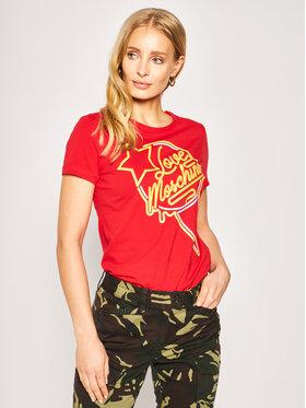LOVE MOSCHINO LOVE MOSCHINO T-shirt W4F7362E 1698 Rouge Regular Fit