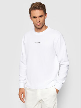 Calvin Klein Calvin Klein Суитшърт Lightweight K10K107338 Бял Regular Fit