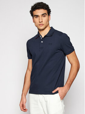 Geox Geox Polo Sustainable M1210C T2649 F4386 Granatowy Regular Fit