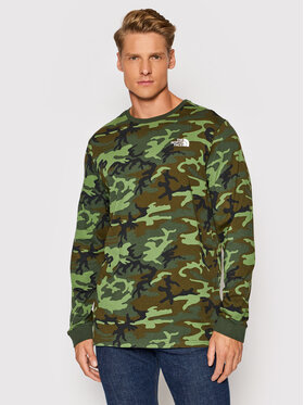 The North Face The North Face Longsleeve Simple Dome NF0A3L3B2871 Zielony Regular Fit