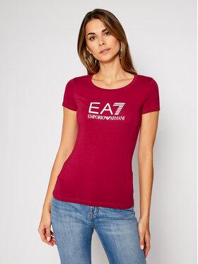 EA7 Emporio Armani EA7 Emporio Armani T-shirt 8NTT63 TJ12Z 1493 Bordeaux Slim Fit