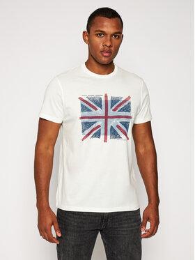 Pepe Jeans Pepe Jeans T-Shirt Brad PM507452 Weiß Regular Fit