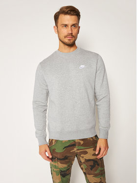 NIKE NIKE Bluză Sportswear Club BV2662 Gri Standard Fit