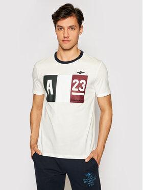 Aeronautica Militare Aeronautica Militare T-Shirt 211TS1866J492 Biały Regular Fit