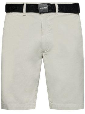 Calvin Klein Calvin Klein Stoffshorts Garment Dye Belted K10K107164 Grau Slim Fit