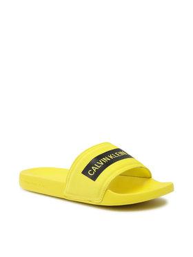 Calvin Klein Jeans Calvin Klein Jeans Klapki Slide Tape Inst Co YM0YM00257 Żółty