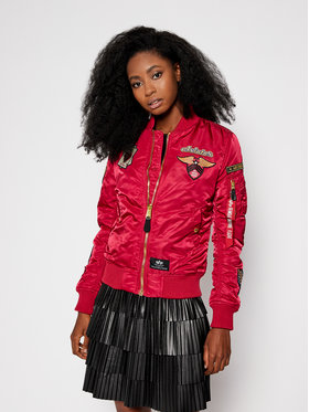 Alpha Industries Alpha Industries Bomber striukė Custom 198016 Raudona Regular Fit