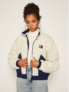 Tommy Jeans Tommy Jeans Giacca di transizione Sherpa DW0DW08847 Beige Regular Fit