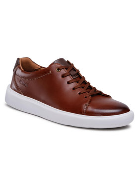 Clarks Clarks Sneakersy Cambro Low 261581257 Brązowy