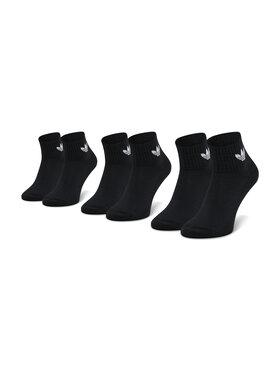 adidas adidas Sada 3 párů vysokých ponožek unisex Mid-Cut Crew FM0643 Černá