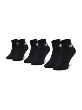 adidas adidas Súprava 3 párov vysokých ponožiek unisex Mid-Cut Crew FM0643 Čierna