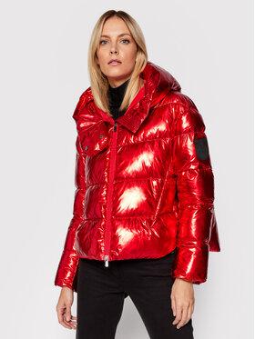 Pinko Pinko Pernata jakna AI 21-22 BLK01 1G16D6 Y76P Crvena Regular Fit