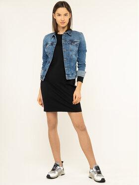 Tommy Jeans Tommy Jeans Kleid für den Alltag Tape Detail Bodycon DW0DW07593 Schwarz Fitted Fit