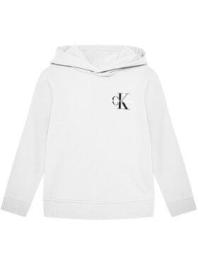 Calvin Klein Jeans Calvin Klein Jeans Mikina Small Monogram IU0IU00164 Bílá Regular Fit
