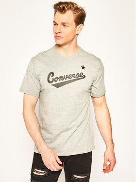Converse Converse T-Shirt Center Front Logo 10018235-A04 Szary Regular Fit