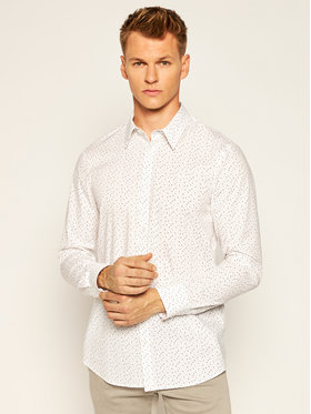 Guess Guess Koszula Sunset M0YH20 W8BX0 Biały Slim Fit