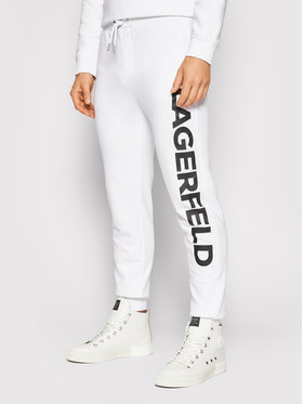KARL LAGERFELD KARL LAGERFELD Spodnie dresowe 705039 511900 Biały Regular Fit
