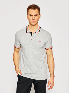 Guess Guess Polo M1RP66 J1311 Szary Extra Slim Fit