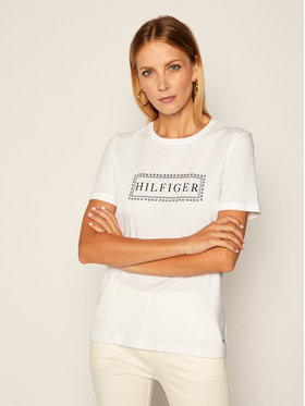 Tommy Hilfiger Tommy Hilfiger T-Shirt Cleo WW0WW28290 Biały Regular Fit
