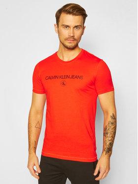 Calvin Klein Jeans Calvin Klein Jeans Marškinėliai Logo J30J316477 Oranžinė Regular Fit
