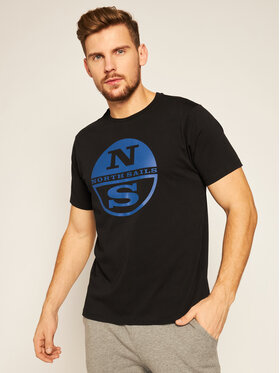 North Sails North Sails T-shirt Graphic 692581 Nero Regular Fit