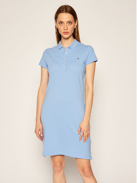 TOMMY HILFIGER TOMMY HILFIGER Každodenní šaty Polo WW0WW27949 Modrá Slim Fit