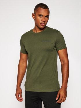Calvin Klein Jeans Calvin Klein Jeans Tričko Logo J30J315245 Zelená Slim Fit
