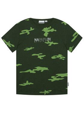 Napapijri Napapijri T-Shirt K Sersa NP0A4EQB D Zelená Regular Fit