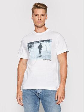 Calvin Klein Jeans Calvin Klein Jeans Тишърт J30J317465 Бял Regular Fit