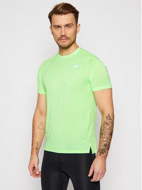 New Balance New Balance Тениска от техническо трико Impact Run Ss NBMT01234 Зелен Regular Fit