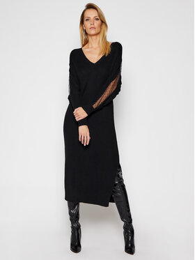 Red Valentino Red Valentino Robe en tricot VR3KD01T Noir Loose Fit