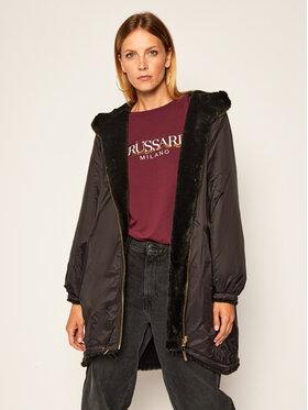 Trussardi Jeans Trussardi Jeans Átmeneti kabát 56S00537 Fekete Oversize