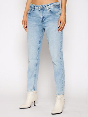 Pepe Jeans Pepe Jeans Jeansy Violet PL201742 Niebieski Relaxed Fit
