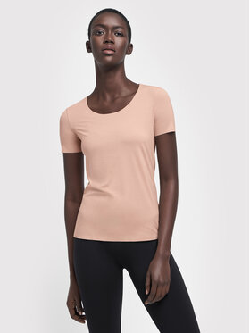 Wolford Wolford T-shirt Aurora Pue 52764 Rose Slim Fit