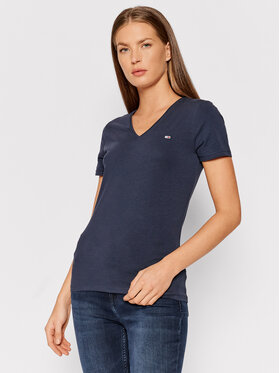 Tommy Jeans Tommy Jeans T-Shirt Tjw Skinny Stretch DW0DW09197 Σκούρο μπλε Slim Fit