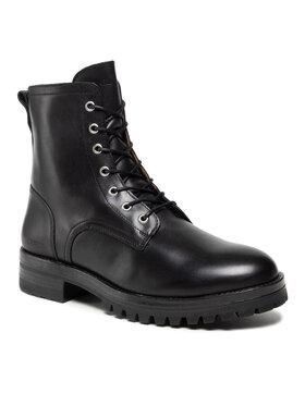 Guess Guess Šnurovacia obuv FMVLU8 LEA11 Čierna