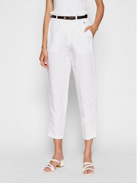 Rinascimento Rinascimento Spodnie materiałowe CFC0103571003 Biały Regular Fit
