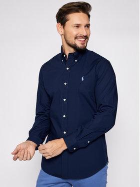 Polo Ralph Lauren Polo Ralph Lauren Marškiniai Bsr 710792044 Tamsiai mėlyna Custom Fit