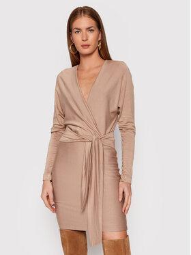 Guess Guess Kleid für den Alltag Lolita W1BK68 K9DT1 Beige Regular Fit