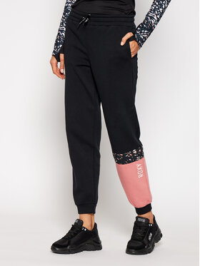 Roxy Roxy Pantaloni trening Modern Tale ERJFB03267 Negru Loose Fit