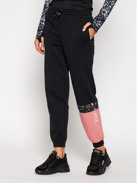 Roxy Roxy Teplákové nohavice Modern Tale ERJFB03267 Čierna Loose Fit