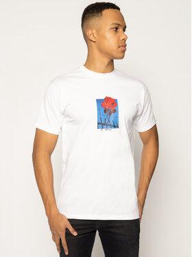 Vans Vans T-shirt Trespassing VN0A49Q3WHT1 Blanc Classic Fit