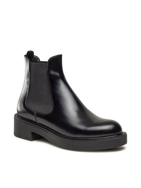 Gino Rossi Gino Rossi Kotníková obuv s elastickým prvkem 01-08 Černá