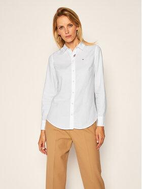 Tommy Jeans Tommy Jeans Košile Oxford DW0DW07808 Bílá Slim Fit