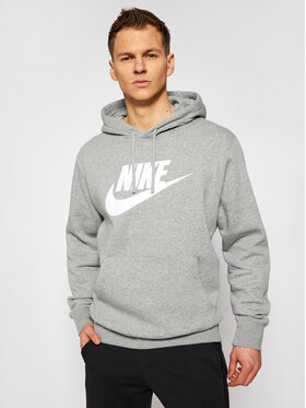 Nike Nike Majica dugih rukava Sportswear Club Fleece BV2973 Siva Standard Fit