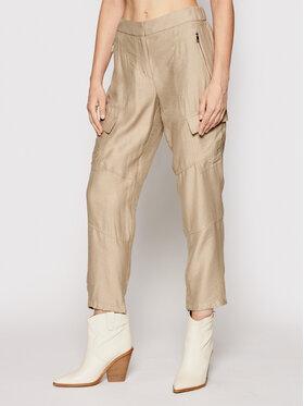 DKNY DKNY Kalhoty z materiálu P02K6FA4 Zelená Regular Fit