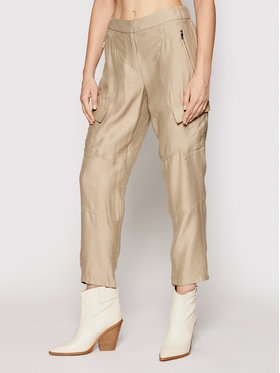 DKNY DKNY Pantaloni di tessuto P02K6FA4 Verde Regular Fit