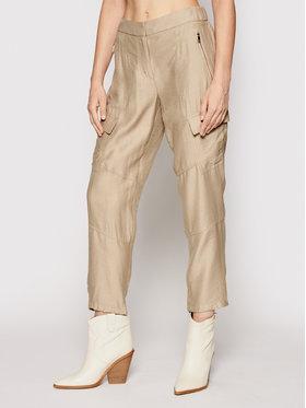 DKNY DKNY Текстилни панталони P02K6FA4 Зелен Regular Fit